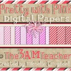 Pretty with Pink (stripes) Digital Papers