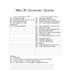Price List (Economy System)