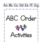 Primary ABC Order Activties