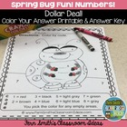 Primary Center Game LADYBUGS Matching Dots to Numbers 0 - 10