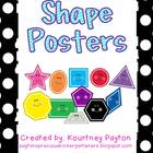 Primary Color Polka Dot Shape Posters