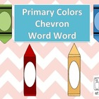 Primary Colors Chevron Word Wall