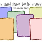 Primary Colors Doodle Frames- Clip Art