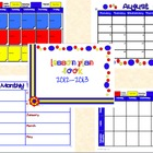 Primary Colors Plan Book with Stickies