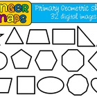 Primary Geometric Shapes Clip Art Set