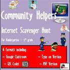 Primary Grades Internet Scavenger Hunt - Community Helpers
