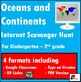 Primary Grades Internet Scavenger Hunt - Continents and Oceans