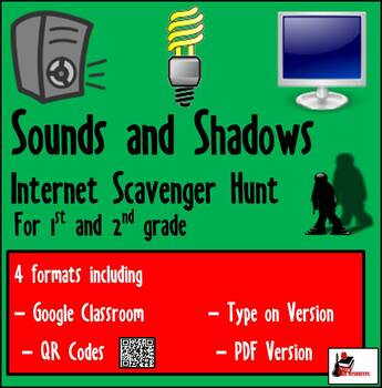 Primary Grades Internet Scavenger Hunt - Lights and Shadows