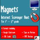 Primary Grades Internet Scavenger Hunt - Magnets