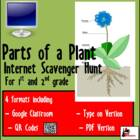 Internet Scavenger Hunt - Primary Grades - Parts of a Plant