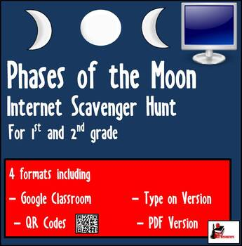 Primary Grades Internet Scavenger Hunt - Phases of the Moon