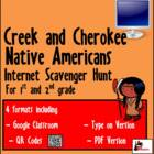 Primary Grades Internet Scavnger Hunt - Creek &amp; Cherokees