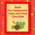 Primary Math - Pre-Assessment Tasks and Checklists