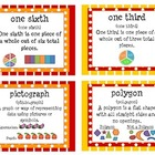 Primary Math Vocabulary Cards