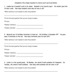 Primary Math Worksheet : Solving Problems with Extra Information