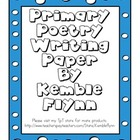 Primary Poetry Writing Paper for Writer's Workshop