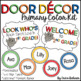 Primary Polka Dot Door Decor - Editable