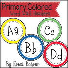 Primary Polka Dot Word Wall Labels