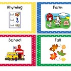 Primary Polka Dots Book Bin Labels with Individual Book Labels