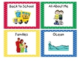 Primary Polka Dots Book Bin Labels with Individual Book La