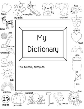 Primary Printable Fill-in Dictionary