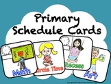 Primary Schedule Cards with Pictures and Text