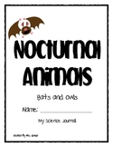 Primary Science journal activities on Nocturnal animals