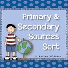 Primary &amp; Secondary Sources Sort