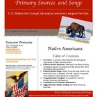 Primary Sources and Songs--The Westward Expansion--Native