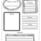 Primary Vocabulary Page