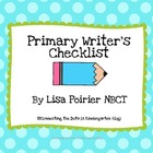 Primary Writer Checklist