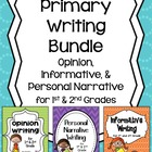 Primary Writing Bundle ~ Informative, Personal Narrative,