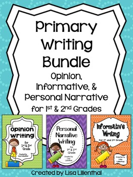Common Core Writing Bundle ~ Informative, Narrative, & Opinion {Primary}