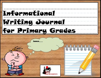 Primary Writing Journal: Genre Informational