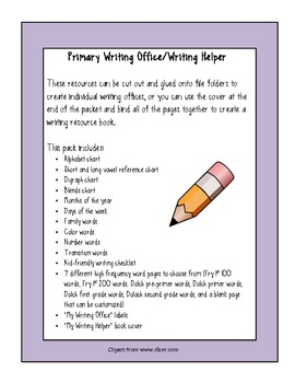 Primary Writing Offices/Writing Helpers