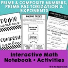 Prime Factorization Interactive Notebook Pages &amp; Foldables