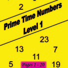 Prime Time Numbers - Level 1 - 1st Grade - Pages 1 - 20