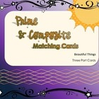 Prime and Composite Matching Game with Term, Definition an