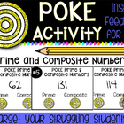 Prime or Composite Poke Activity - Perfect for Math Workshop!