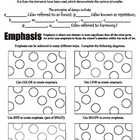 Principles of Art (Design) and Emphasis (USA Spelling)