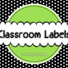 Print-Rich Green Classroom Labels