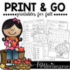 Print and Go! {Printables for Fall}