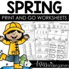 Print and Go! Printables for Spring