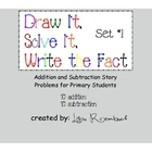 Printable Addition &amp; Subtraction Story Problems Set 1 Prim