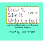 Printable Addition &amp; Subtraction Story Problems Set 2 Prim