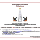 Printable Ancient Egyptian Obelisk Model -- Folding Activity