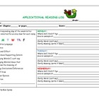 Printable-Application Reading Log