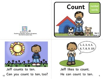 Printable Beginning Readers, Set 2 of 3--10 Books, 40 pages