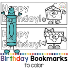 Printable Birthday Bookmarks to Color