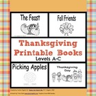 Printable Books for Early Readers: Fall Holiday Theme